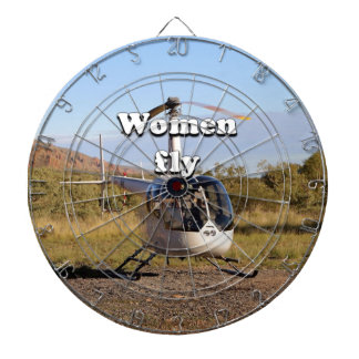 Women fly: Helicopter (white) 2 Dartboard