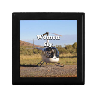 Women fly: Helicopter (white) 2 Gift Box
