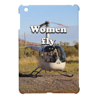 Women fly: Helicopter (white) 2 iPad Mini Covers