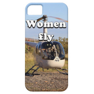 Women fly: Helicopter (white) 2 iPhone 5 Case