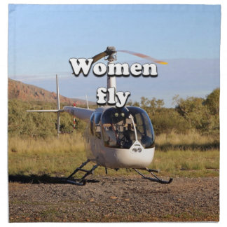 Women fly: Helicopter (white) 2 Napkin