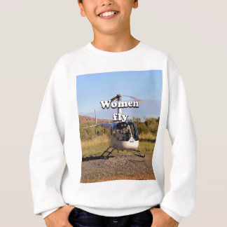 Women fly: Helicopter (white) 2 Sweatshirt