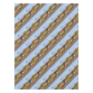 Women fly: Helicopter (white) 2 Tablecloth