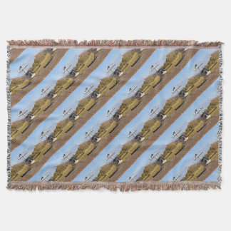 Women fly: Helicopter (white) 2 Throw Blanket