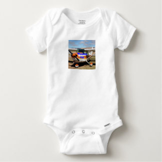 Women fly: high wing aircraft baby onesie