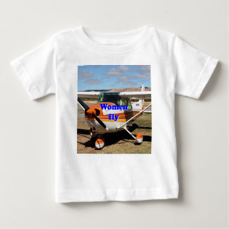 Women fly: high wing aircraft baby T-Shirt