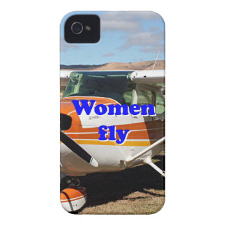 Women fly: high wing aircraft Case-Mate iPhone 4 case