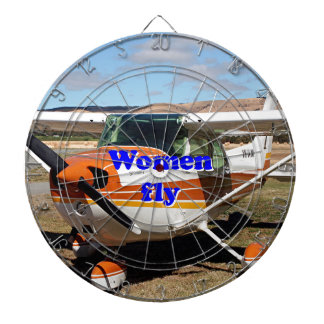 Women fly: high wing aircraft dartboard