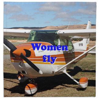 Women fly: high wing aircraft napkin
