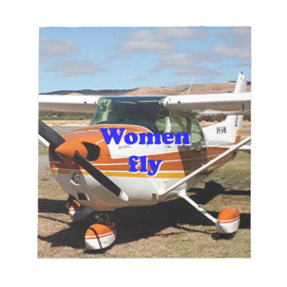 Women fly: high wing aircraft notepad