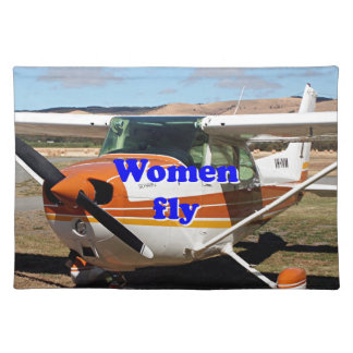 Women fly: high wing aircraft placemat
