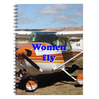Women fly: high wing aircraft spiral notebook