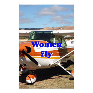 Women fly: high wing aircraft stationery