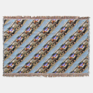 Women fly: high wing aircraft throw blanket
