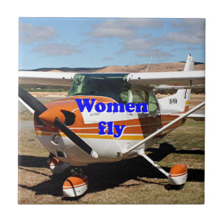 Women fly: high wing aircraft tile