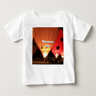 Women fly: hot air balloon 2 baby T-Shirt
