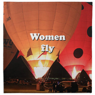 Women fly: hot air balloon 2 napkin