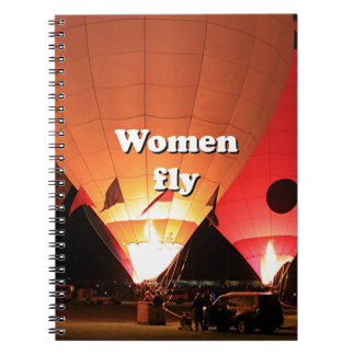 Women fly: hot air balloon 2 notebooks