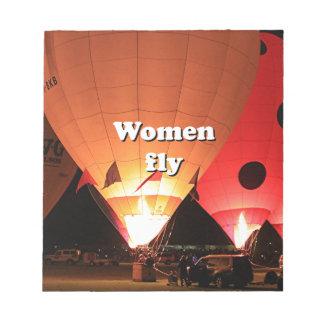 Women fly: hot air balloon 2 notepads