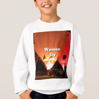 Women fly: hot air balloon 2 sweatshirt