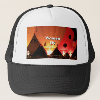 Women fly: hot air balloon 2 trucker hat