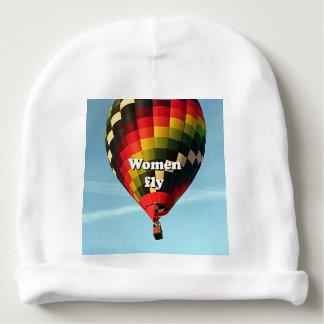 Women fly: hot air balloon baby beanie