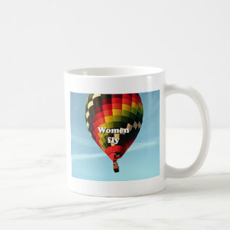 Women fly: hot air balloon coffee mug