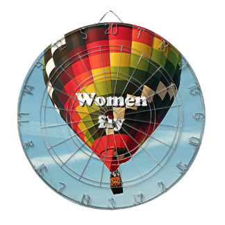 Women fly: hot air balloon dartboard