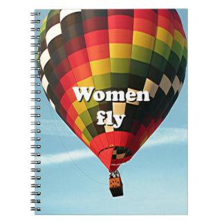 Women fly: hot air balloon notebooks
