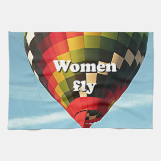 Women fly: hot air balloon towels