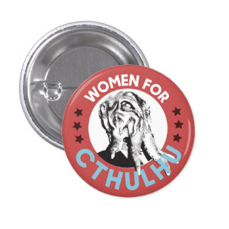 Women for Cthulhu 1 Inch Round Button
