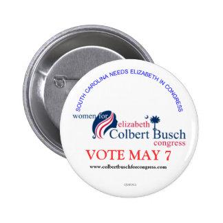 Women for Elizabeth Colbert Busch 2 Inch Round Button