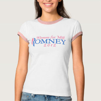 Women for Mitt Romney 2012, Pink/Blue T-Shirt