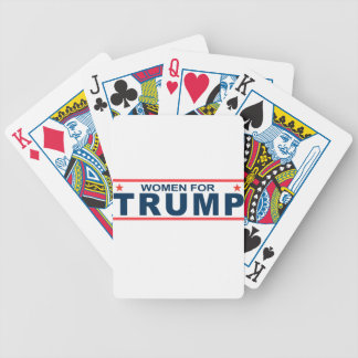 Women for Trump Bicycle Playing Cards