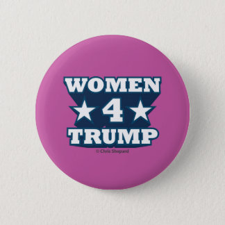 WOMEN FOR TRUMP! COOL 3D TEXT HOT PINK BOLD STRONG 2 INCH ROUND BUTTON