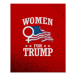 WOMEN FOR TRUMP POSTER
