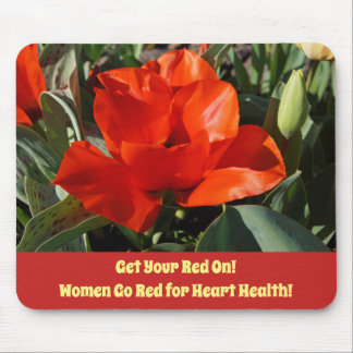 Women Go Red Heart Health Month Get Your Red On! Mouse Pad