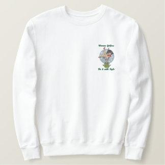 Women Golfers Embroidered Sweatshirt