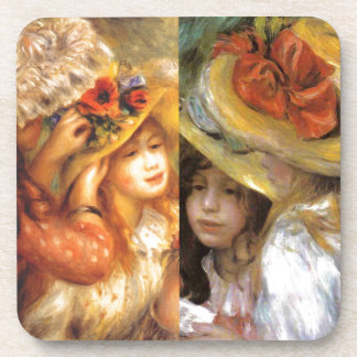 Women headwear are masterpieces in Renoir's art Coaster