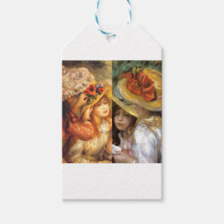 Women headwear are masterpieces in Renoir's art Gift Tags