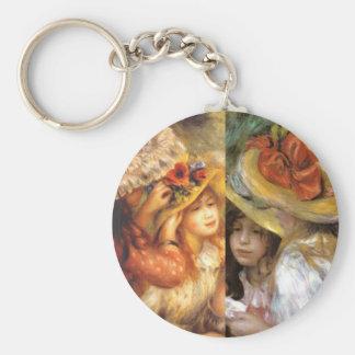 Women headwear are masterpieces in Renoir's art Keychain
