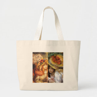 Women headwear are masterpieces in Renoir's art Large Tote Bag