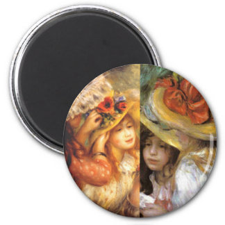 Women headwear are masterpieces in Renoir's art Magnet