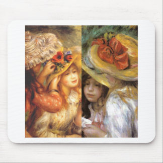 Women headwear are masterpieces in Renoir's art Mouse Pad