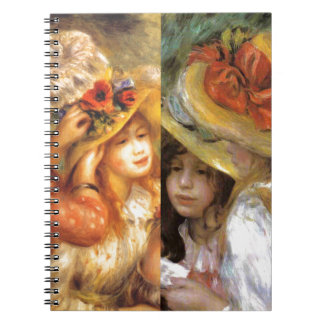 Women headwear are masterpieces in Renoir's art Notebook