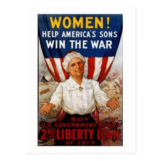 Women! Help America's Sons Postcard