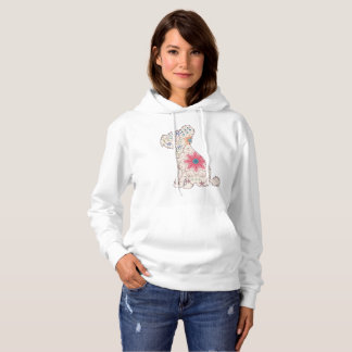 Women Hooded Sweatshirt Chinese crested dog vintag