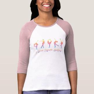 women - I love figure skating, pastel rainbow T Shirts