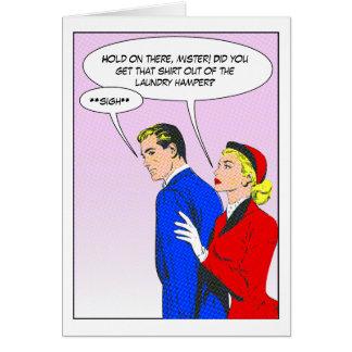 Women Improving Men Card