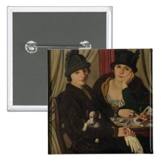 Women in a Cafe, c.1924 2 Inch Square Button